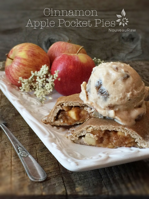 Raw cinnamon apple pocket pies