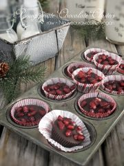Pomegranate Chocolate Clusters (raw, vegan, gluten-free, nut-free)