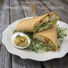 "Morning Glory ""Egg"" Salad Burrito (raw, vegan, gluten-free, nut-free)"
