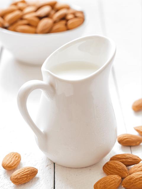 Cultured-Almond-Milk-Kefir-with-probiotics-white-pitcher