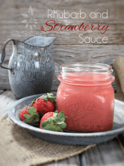 Rhubarb & Strawberry Sauce (raw, vegan, gluten-free, nut-free)
