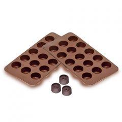 Sorbus® Round Silicone Mold for Chocolate Jelly and Candy – 15-piece Per Mold (Set of 2)