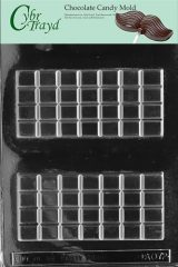 Cybrtrayd AO072 Break Apart Bar Chocolate Candy Mold with Exclusive Cybrtrayd Copyrighted Chocolate Molding Instructions