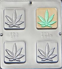 Marijuana Leaf Pot Leaf Bar Chocolate Candy Mold 1343