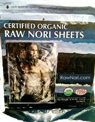 Raw Organic Nori Sheets 50 qty Pack! – Certified Vegan, Raw, Kosher Sushi Wrap Papers – Premium Unheated, Un Cooked, untoasted, dried – RAWFOOD
