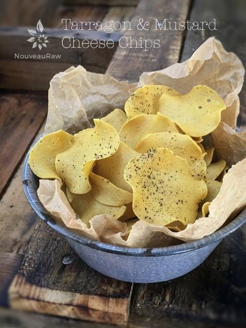 Raw Recipes -Tarragon Mustard Cheese Chips