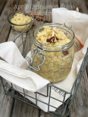 Apple Cinnamon Spice Sauerkraut (raw, vegan, gluten-free, cultured)