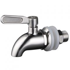 1 X Stainless WorksTM Stainless Steel Beverage Dispenser Replacement Spigot(Polished Finish)