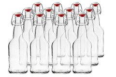 Chef's Star CASE OF 12 – 16 oz. EASY CAP Beer Bottles – CLEAR