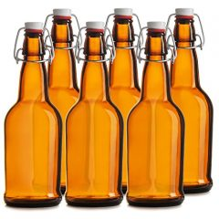 Chef's Star CASE OF 6 – 16 oz. EASY CAP Beer Bottles – AMBER
