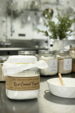 raw vegan Cultured Young Thai Coconut Yogurt