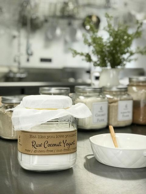raw vegan Cultured Young Thai Coconut Yogurt