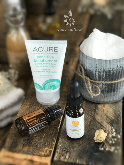 the facial cream and oils that I use with My Personal Skin Care Regimen