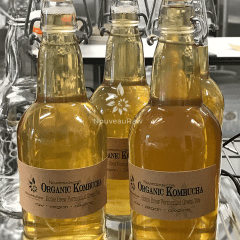 close up bottles of creating fun labels for my Bottling Kombucha from Continuous Brew