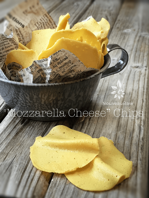 "'Mozzarella-Cheese"" Chips served in a tin cup"