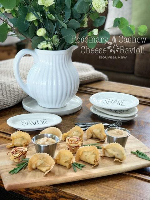 Vegan Rosemary Cashew Ravioli