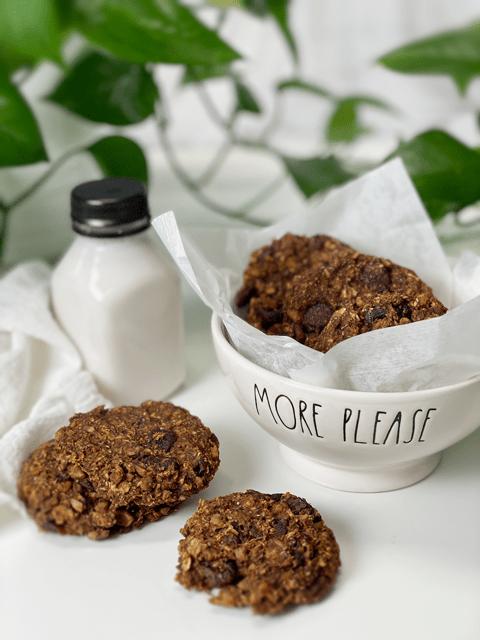 gluten-free vegan Pumpkin Spice Latte Cookies | Raw and Baked Option