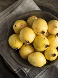 How yellow guava grows and raw guava in vegan diets