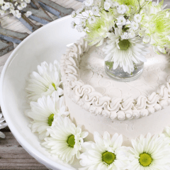 raw, sugar free cake recipe - Sugar Free Coconut Chiffon Cake and Cupcakes feature