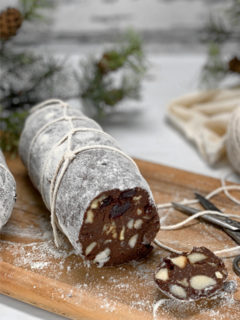 raw vegan chocolate-Salami