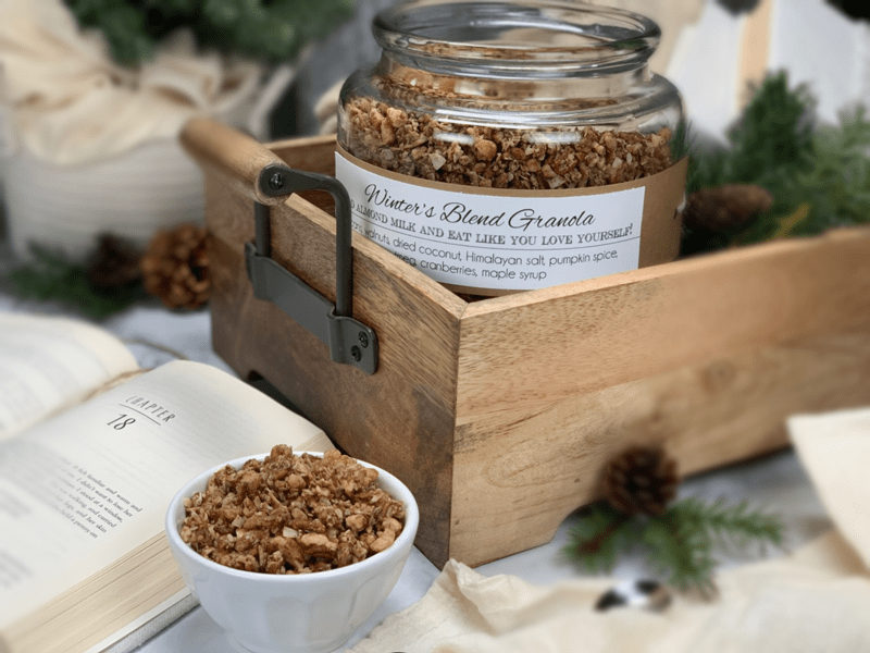 winter's-blend-granola-in-a-wooden-tray