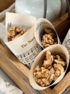 candied-walnuts-in paper cones