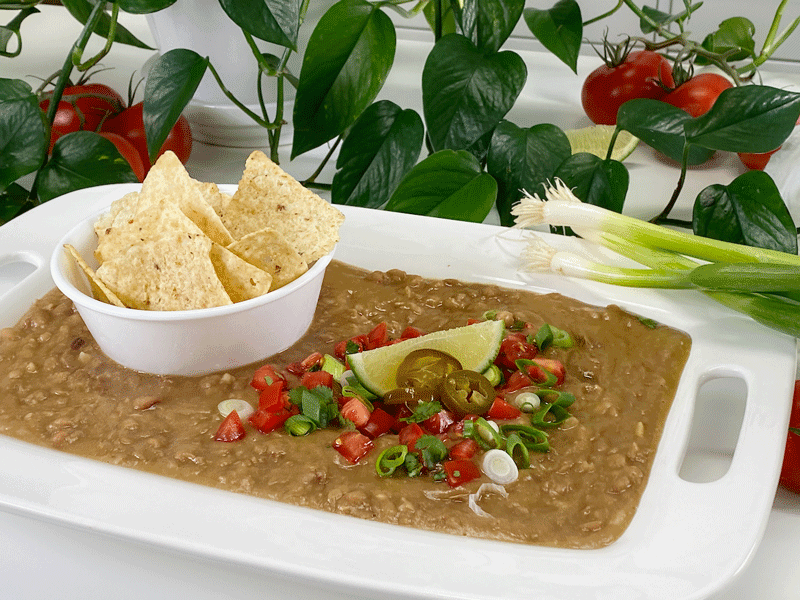 vegan oil-free refried beans