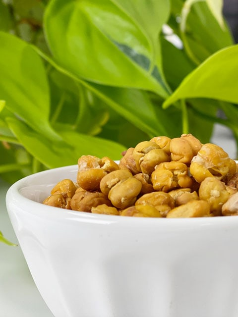 oil-free roasted chickpeas