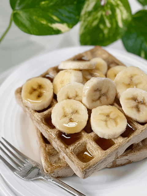vegan gluten-free fat-free waffles