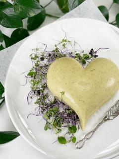 potato based vegan wasabi cheese with agar