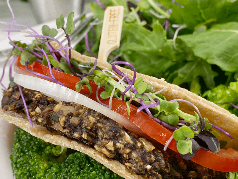 vegan oil-free mushroom burgers