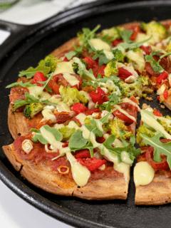 vegan gluten-free oil-free quinoa pizza crust