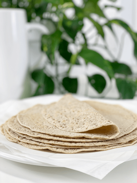 vegan gluten-free oil-free buckwheat wraps