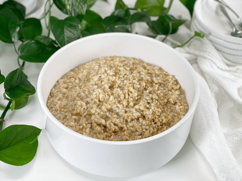 vegan gluten-free oat groats cooked in instant pot