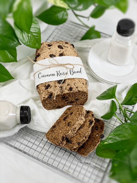 vegan gluten-free nut-free flour-free cinnamon raisin bread