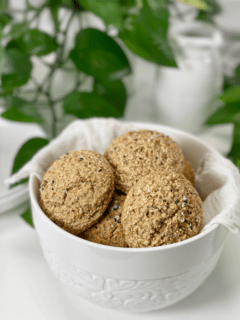 vegan gluten-free nut-free oil-free flour-free oat and buckwheat dinner rolls