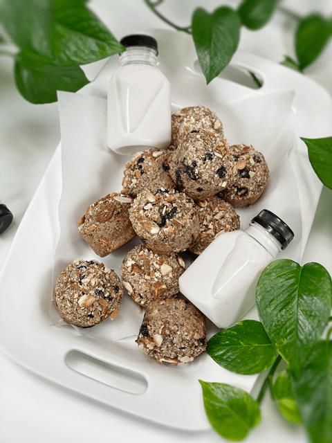 vegan gluten-free flour-free Almond Blueberry Muffins