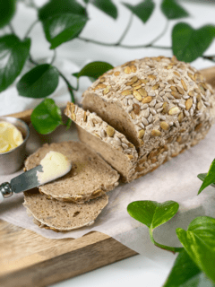 vegan gluten-free oil-free yeast-free seeded multi-grain bread