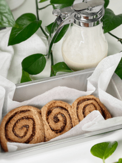 vegan gluten-free yeast free fig and pecan sweet rolls