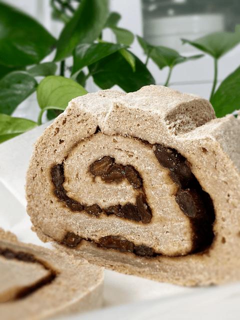 gluten-free yeast-free oil-free vegan Raisin Cinnamon Swirl bread
