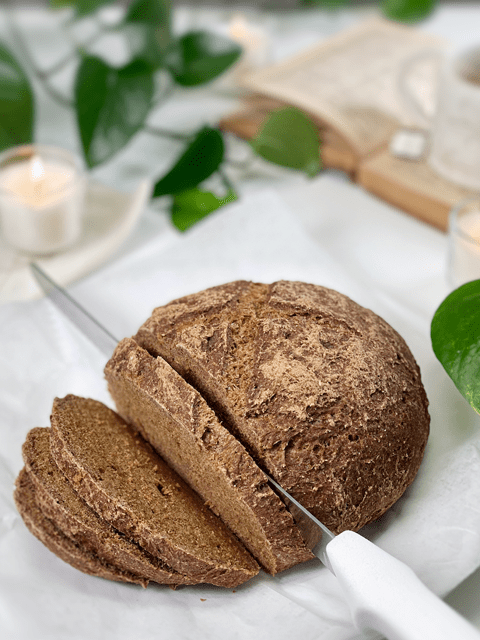 vegan gluten-free yeast-free oil-free allspice and molasses bread