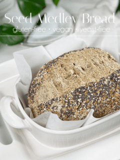gluten-free vegan yeast-free seed medley bread