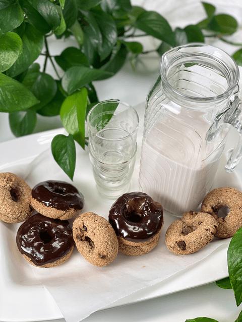 Tigernut Chocolate Chip Doughnuts vegan gluten-free nut-free grain-free oil-free